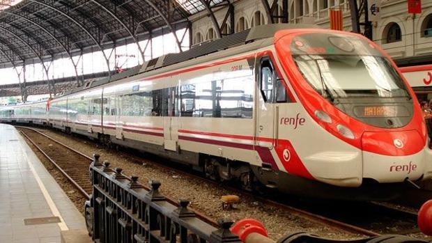 Un tren de Renfe en Barcelona