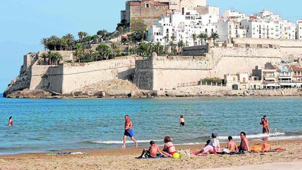 Playa de Peñíscola, localidad donde se ha producido una de las muertes este sábado