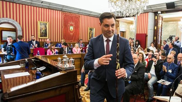 Daniel de la Rosa, tras ser elegido alcalde