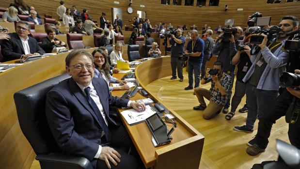 Imagen de la constitución de las nuevas Cortes Valencianas el pasado mayo