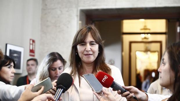 Laura Borràs, portavoz de JpC en el Congreso