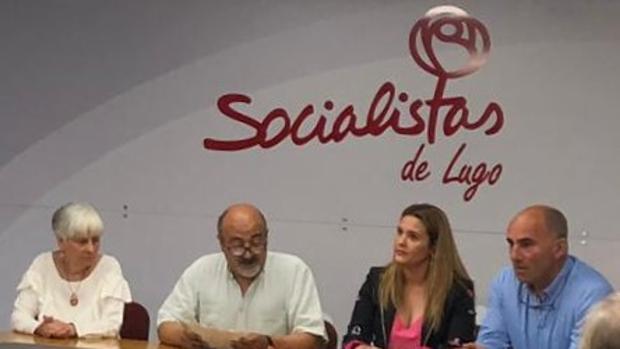 Anuncio del resultado de las primarias a la secretaría general del PSOE en la provincia de Lugo