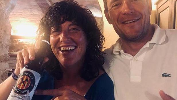 Teresa Jordà, con la polémica cerveza