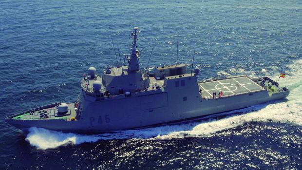 Imagen de archivo del buque de la Armada española Audaz