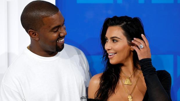 El rapero y Kim Kardashian en los MTV Video Music Awards