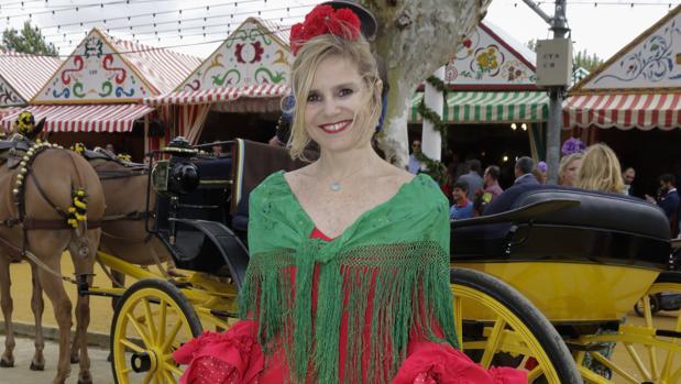 Eugenia Martínez de Irujo en la Feria de Sevilla
