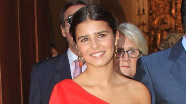 Tana Rivera en la boda de su padre con Lourdes Montes