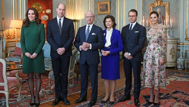 Catalina y Guillermo de Cambridge, Carlos Gustavo y Silvia de Suecia y los príncipes Daniel y Victoria de Suecia