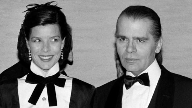 Carolina de Mónaco con Karl Lagerfeld
