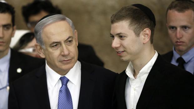 El primer ministro de Israel y su hijo