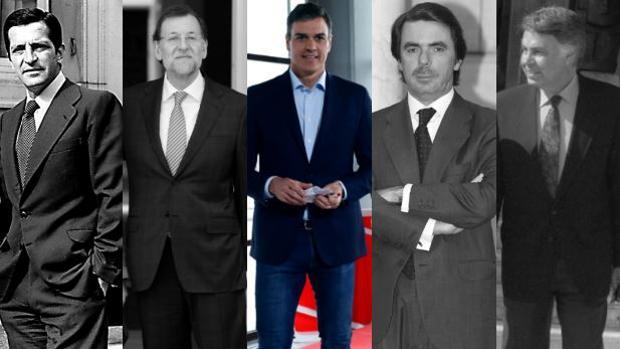 Sánchez, en el centro, juto al resto de preisdente de España