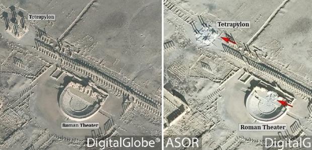 Imagen que muestra los daños en Palmira