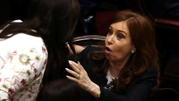 Cristina Fernández de Kirchner, en la toma de posesión de su escaño en el Senado el pasado día 29
