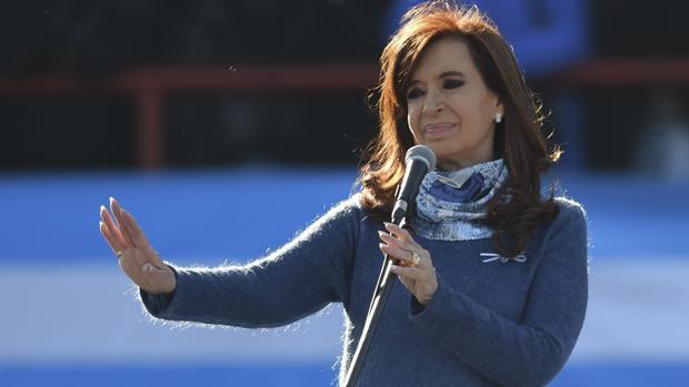 Cristina Fernández de Kirchner en un discurso en Buenos Aires cuando era presidenta de Argentina