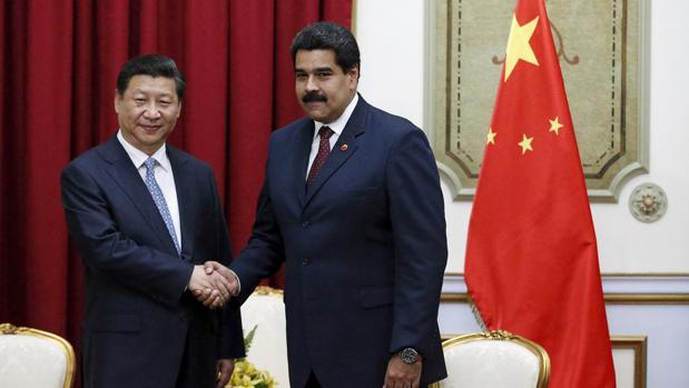 El presidente chino, Xi Jinping, con Nicolás Maduro durante una visita a Caracas en 2014