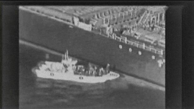Imagen extraida de un vídeo publicado por el Comando Central estadounidense