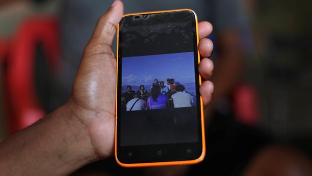 Imagen de un barco con inmigrantes venezolanos que naufragó