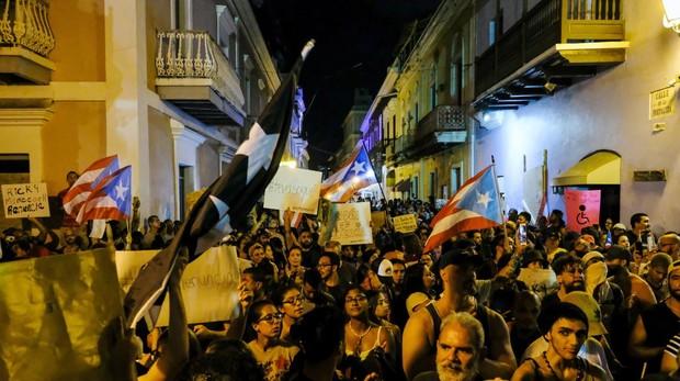 Cuarta jornada de protestas en Puerto Rico, pidiendo la dimisión del gobernador