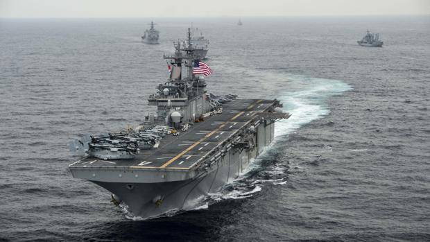 El buque de asalto anfibio estadounidense USS Boxer