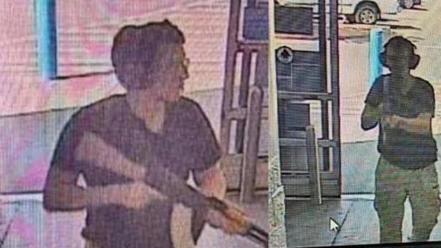 Imágenes del autor de la matanza de las cámaras se seguridad del supermercado Walmart
