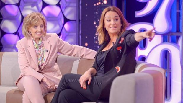 Toñi Moreno y María Teresa Campos en el programa 'Un año de tu vida'.