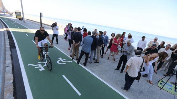 Inauguración del primer tramo del carril bici
