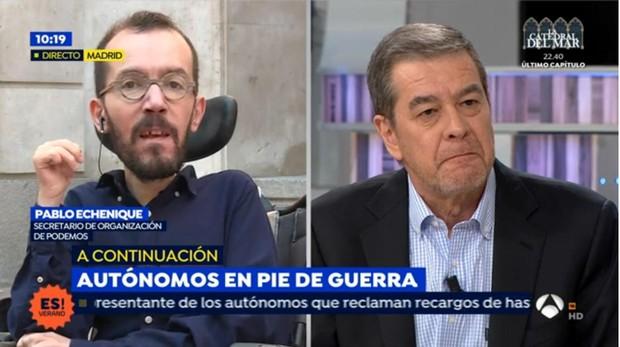 Pablo Echenique y Jesús Rivasés en «Espejo público»