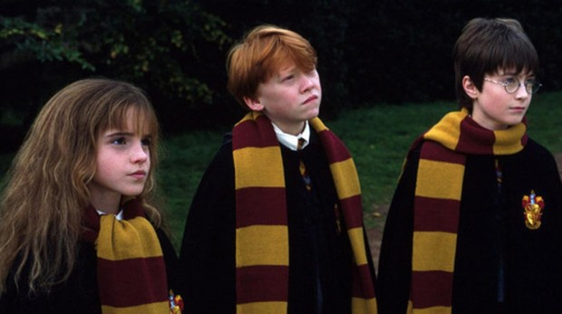 Hermione, Ron y Harry Potter