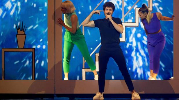 Miki durante el segundo ensayo del Festival de Eurovisión 2019