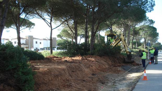 Obras en la zona de Molino Viejo.