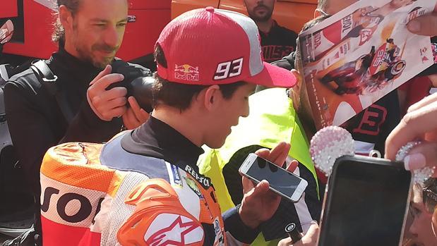 El piloto español hoy en el Circuito Ángel Nieto.