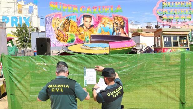 La Guardia Civil ya investiga el incidente producido en la feria de San José de la Rinconada