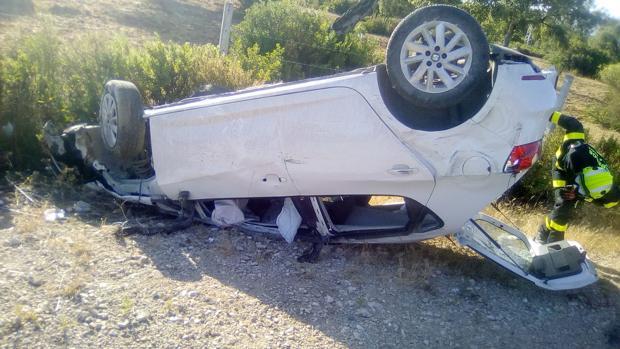 Imagen del vehículo siniestrado en el accidente de tráfico.