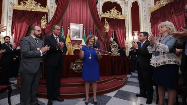 Investidura de Irene García en junio de 2015 como presidenta de la Diputación de Cádiz