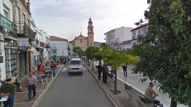 Plaza de Algodonales donde se encuentra el bar del implicado.