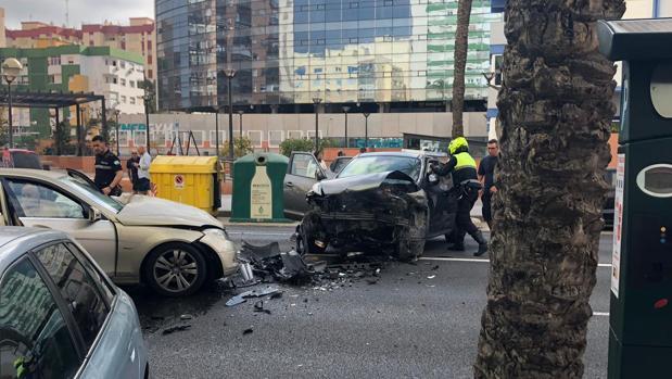 Imagen de los dos vehículos que han colisionado