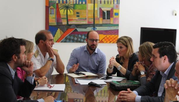 Germán Beardo en una de las reuniones para tratar el tema de Fuentebravía