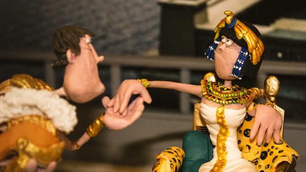 Cleopatra, hecha en plastilina en la exposición de Diputación de Cádiz.