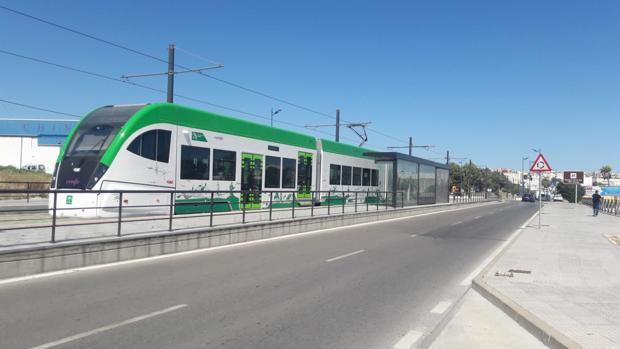 Un vehículo del tranvía.