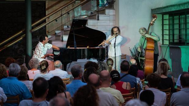 Carmelo Muriel y Javier Galiana durante su espectáculo