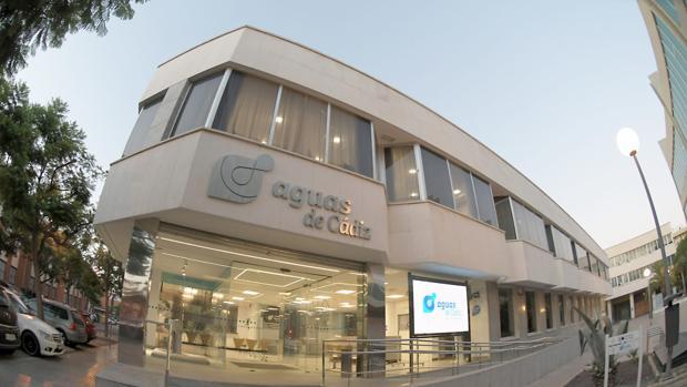 Nuevo aspecto de la sede de Aguas de Cádiz