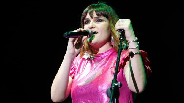 María Rozalén en uno de sus conciertos.