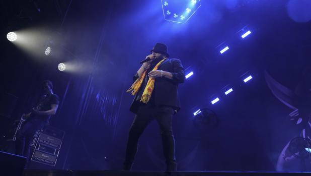 Kutxi Romero durante el concierto de Marea en el 'No Sin Música'