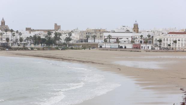 Imagen de la playa de Rota.