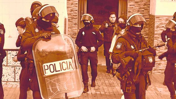 Operación antidroga de la Policía Nacional en el Campo de Gibraltar.