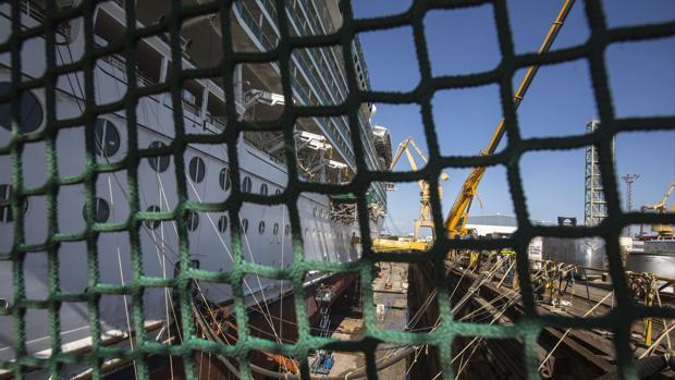 Imagen de una de las últimas obras llevadas a cabo en el astillero de Cádiz