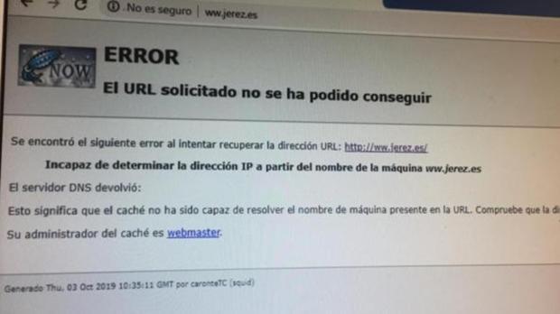 Imagen que ofrece la web oficial del Ayuntamiento de Jerez