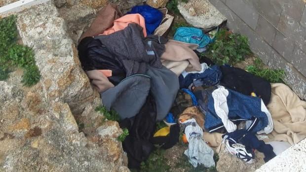 Lugar donde acampan los sin techo en Entrecatedrales.