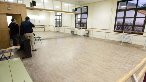Una de las aulas del Conservatorio de Danza