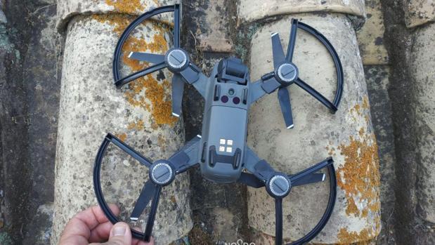 Imagen del dron intervenido